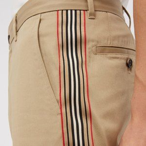 Burberry-Icon Stripe slim-leg chino pants-Size 48